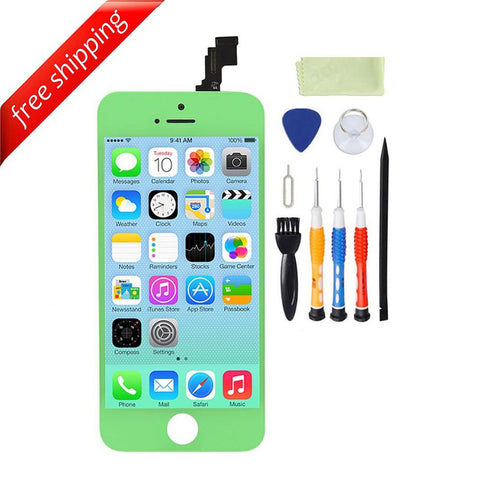LCD For iPhone 5c Replacement Screen Touch Digitizer - Green