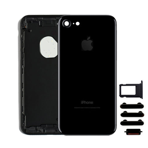 Back Housing Replacement Battery Case Cover Rear Frame For iPhone 7 - Jet Black