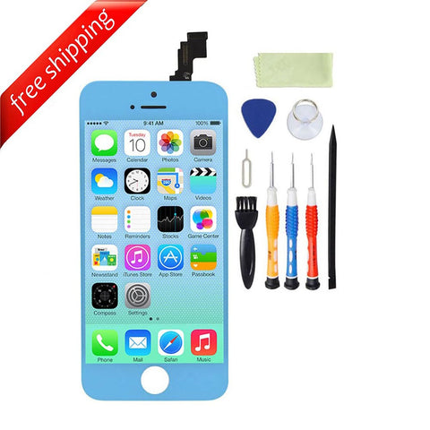 LCD For iPhone 5c Replacement Screen Touch Digitizer - Light Blue