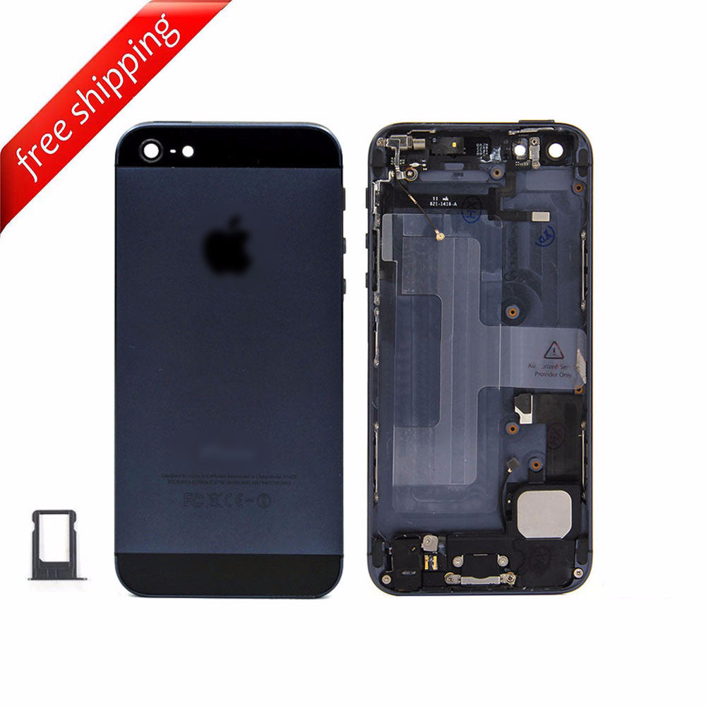 Back Housing Replacement Battery Case Cover Rear Frame With  Spare Parts  For iPhone 5 - Black