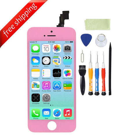 LCD For iPhone 5c Replacement Screen Touch Digitizer - Pink