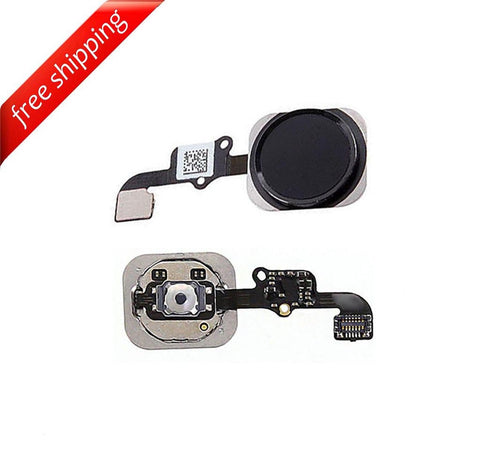 Replacement Home Button With Flex Cable For iPhone 6s Plus - Space Grey