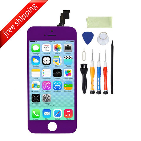 LCD For iPhone 5c Replacement Screen Touch Digitizer - Purple