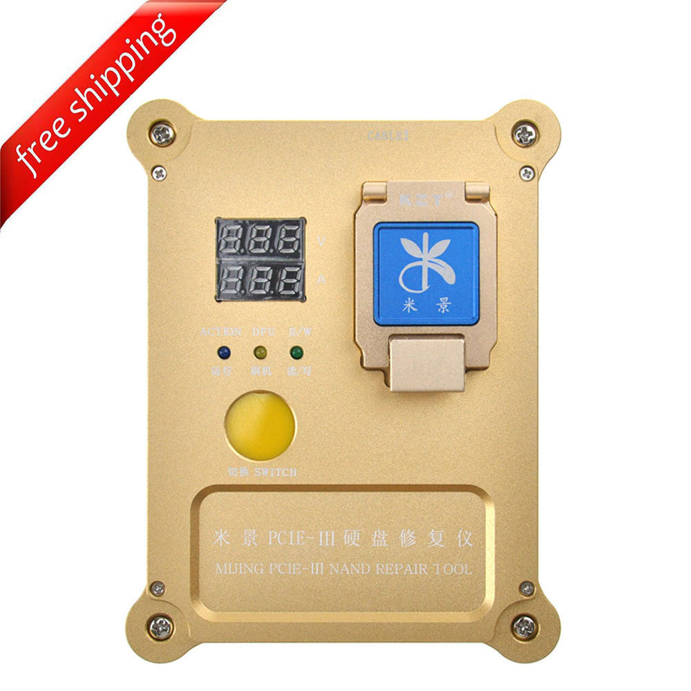 Mijing PCIE-III NAND Flash IC Programming Tool NAND Test Fixture For iPhone 6S/ 6SPlus/ SE/ 7/ 7Plus/ iPad Pro - ( English & Chinese Software )