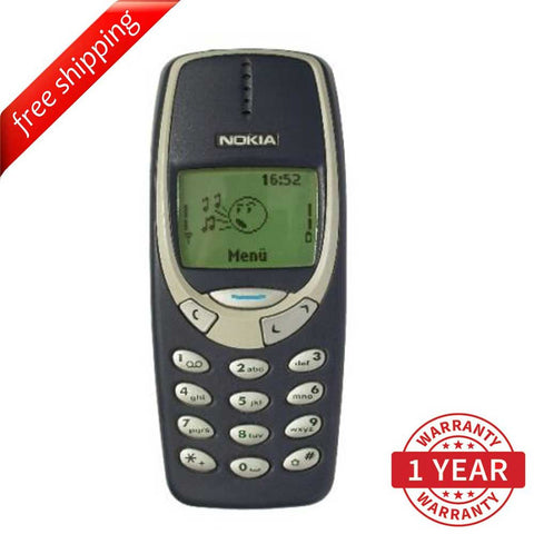 "Original Nokia 3310 GSM 1.8"" TFT LCD (English, Russian Arabic) Blue - Refurbished"
