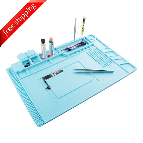 MJ S-160 Heat Insulation Silicone Pad with Screws Box Maintenance Platform Multifunction Electrical BGA Soldering Repair Station