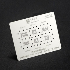 5-IN-1 BGA Reballing Stencil Template for BGA153/162/169/186/221 EMCP/EMMC