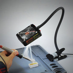 Clip-type Smoke Removal and LED Lighting Dual-use Fan for Mobile Phone Repair