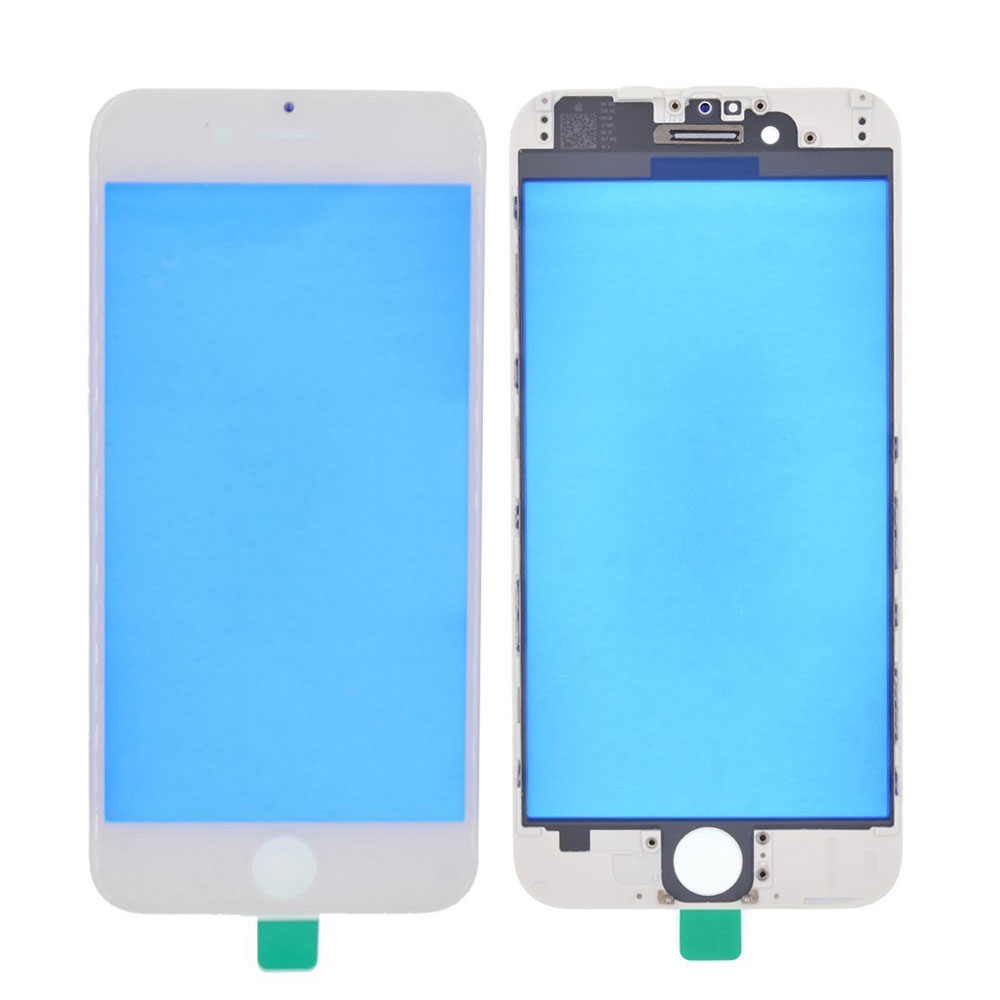 Touch Screen Digitizer Outer Glass Lens with Bezel Frame Pre-Assembled for iPhone 6 Plus - White