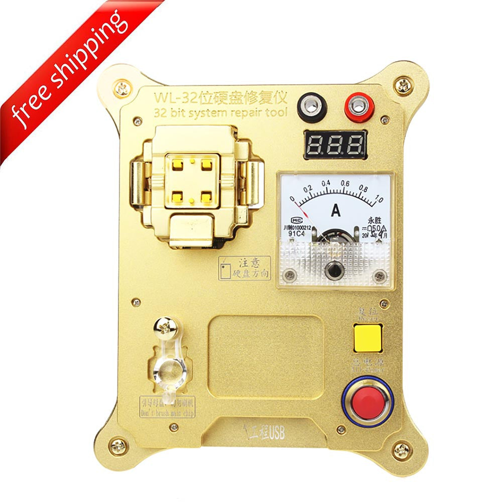 WL 32 Bit IC Chip Programming Repair Mainboard NAND Flash HDD SN For iPhone 4/4S/5/5C iPad 2/3/4 mini1 - ( English & Chinese Software )