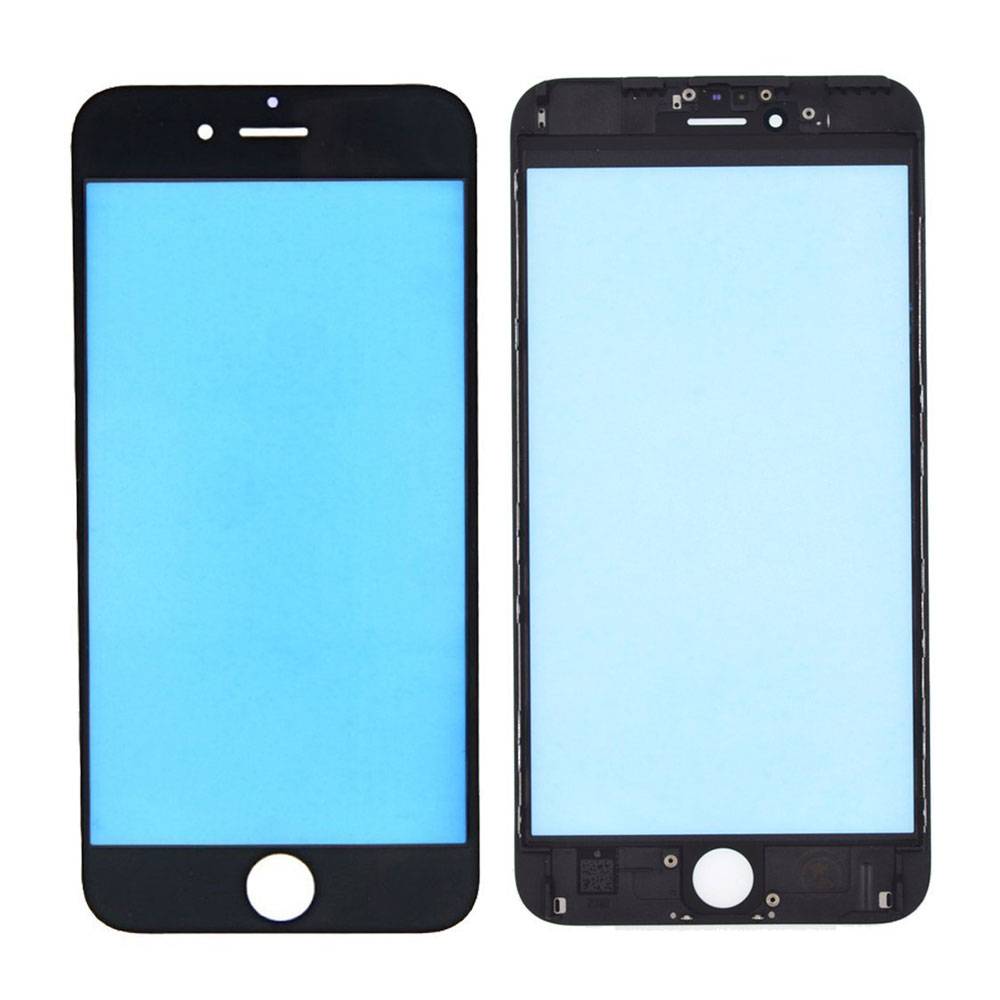Touch Screen Digitizer Outer Glass Lens with Bezel Frame Pre-Assembled for iPhone 6S Plus - Black
