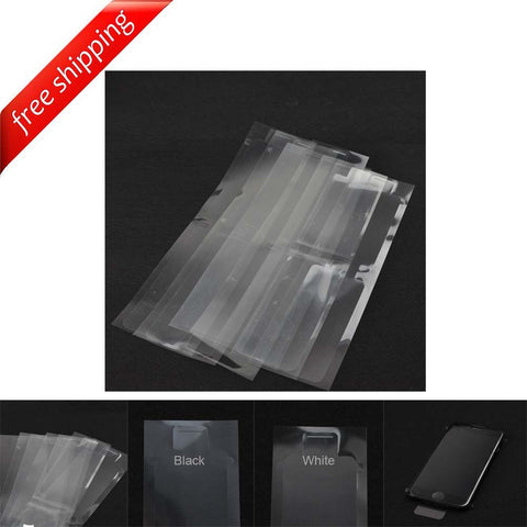 High-Quality Plastic Seal Factory Screen Protector Film for iPhone 7 7 Plus - White