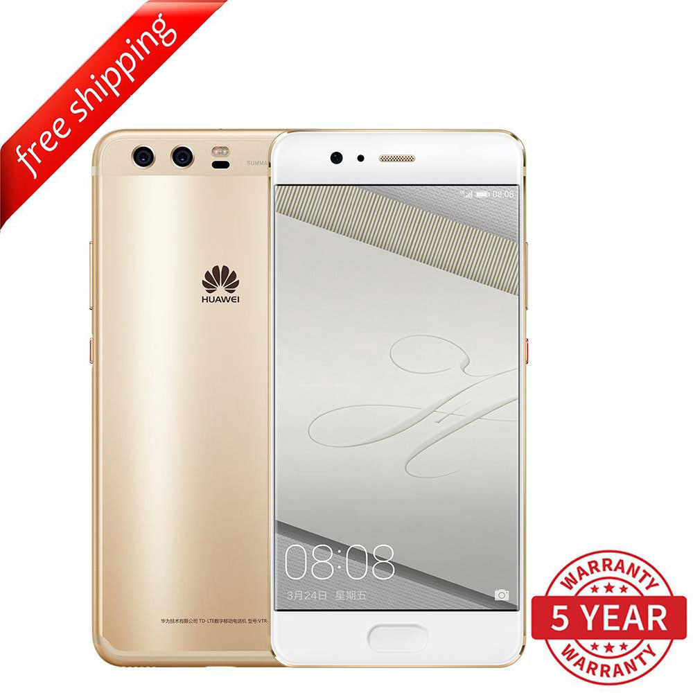 Huawei P10  4+64GB Dual SIM 4G LTE Phone (Multi-Language) - Gold
