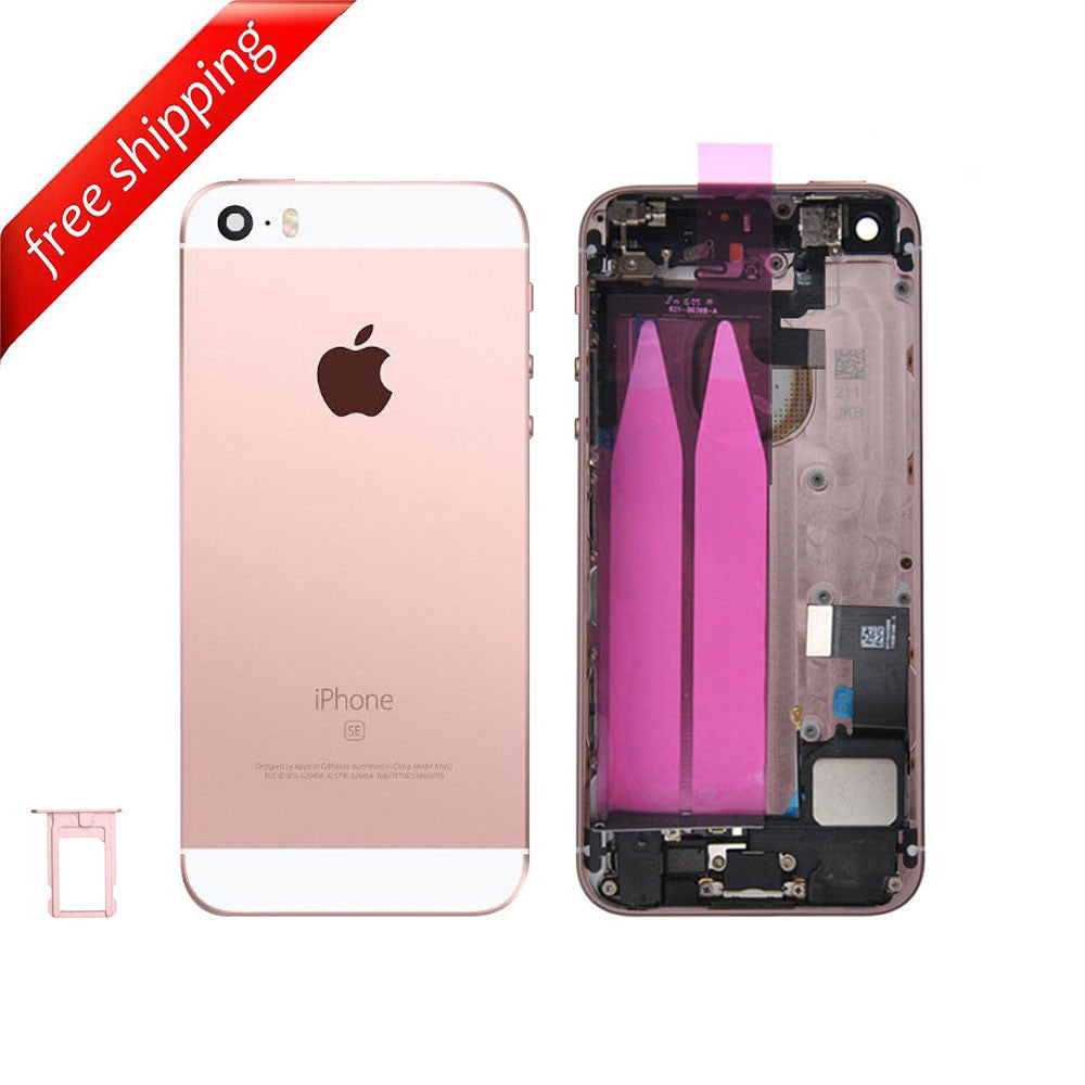 Back Housing Replacement Battery Case Cover Rear Frame With  Spare Parts  For iPhone SE - Rose Gold