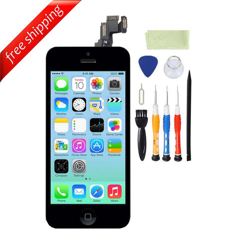 LCD For iPhone 5c With Spareparts Home Button, earphone, camera & Etc - Black