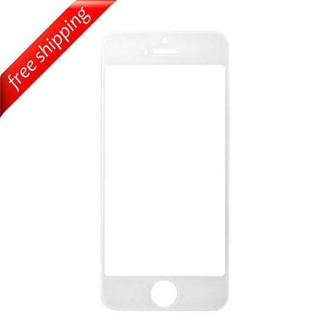 Front Outer Screen Glass Lens For Apple iPhone 5s - White