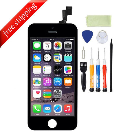 LCD For iPhone 5s Replacement Screen Touch Digitizer - Black