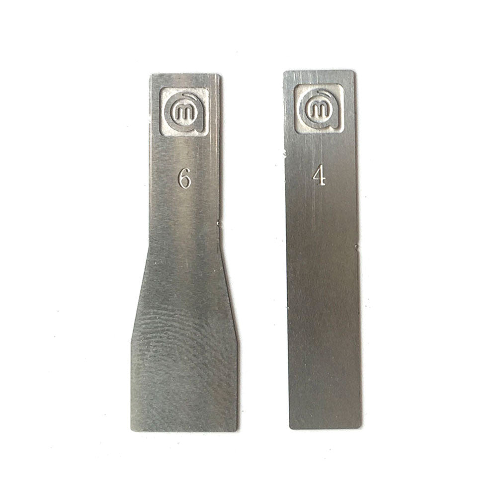 Stainless Steel #4 and #6 Scraping Knife Engraving Craft Knife High Precision Knife Blades