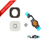 Replacement Home Button With Flex Cable and Rubber For iPhone 5 - White