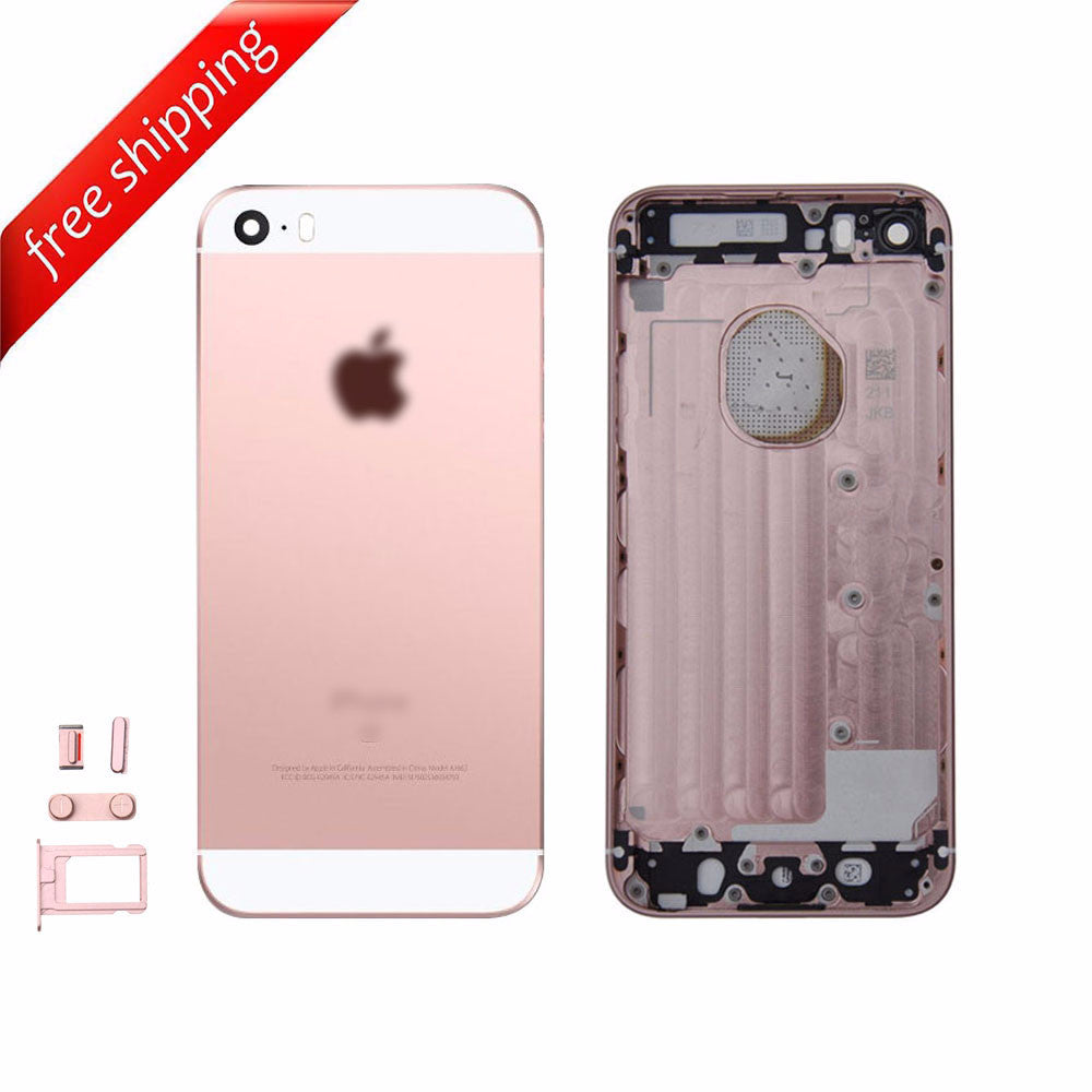Back Housing Replacement Battery Case Cover Rear Frame For iPhone SE - Rose Gold