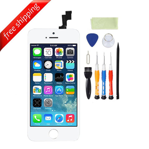 LCD For iPhone 5s Replacement Screen Touch Digitizer - White