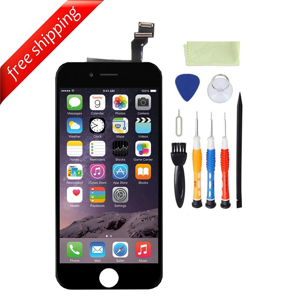 LCD For iPhone 6 Replacement Screen Touch Digitizer - Black