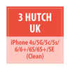 3 Hutch Iphone UK 4s/5g/5c/5s/6/6+/6s/6s+/SE (Clean) - Delivery Time : 7 days