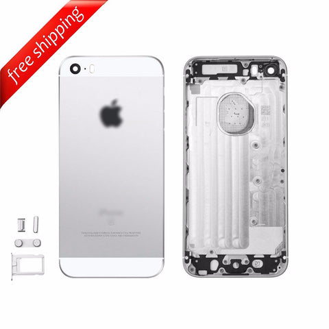 Back Housing Replacement Battery Case Cover Rear Frame For iPhone SE - Silver