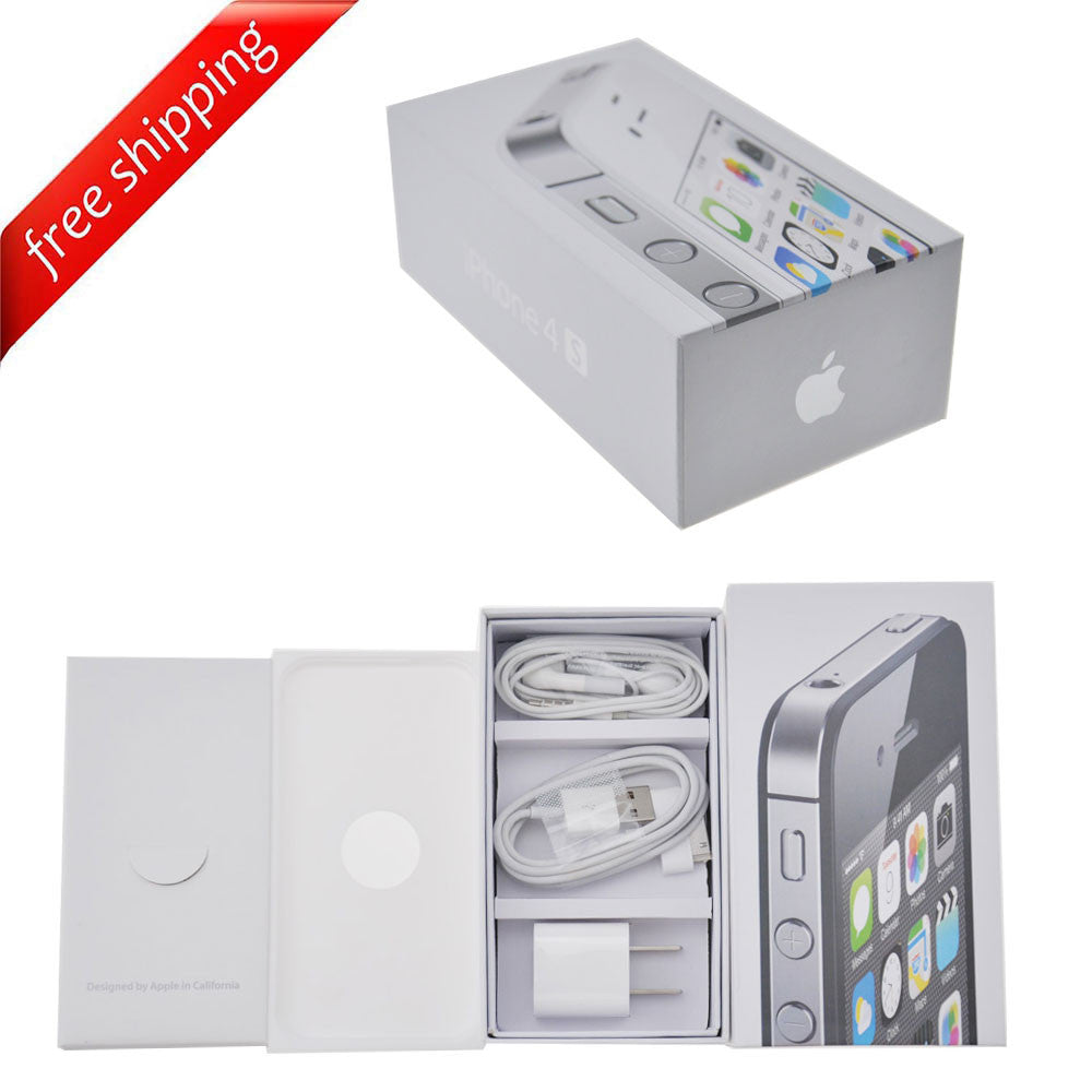 Packaging Box + Full Accessories + Label Sticker For iPhone 4S