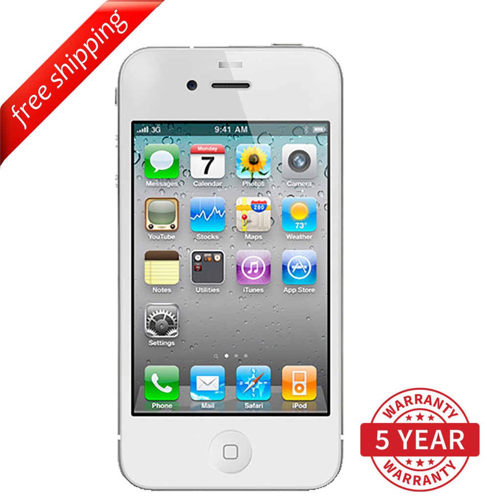 Original Apple iPhone 4S GSM Factory Unlocked White (16GB/32GB) - Refurbished