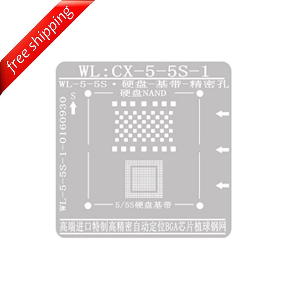 WL High-Quality NAND Baseband IC Chip BGA Reballing Stencil Plant Tin Steel Net for iPhone 5 5S