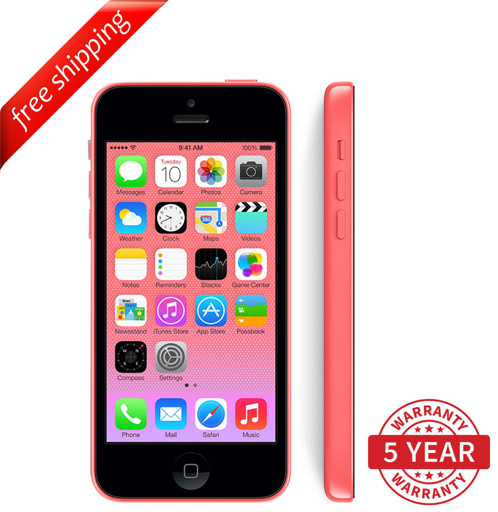 Original Apple iPhone 5c 4G LTE Factory Unlocked Red (8GB/16GB/32GB) - Refurbished