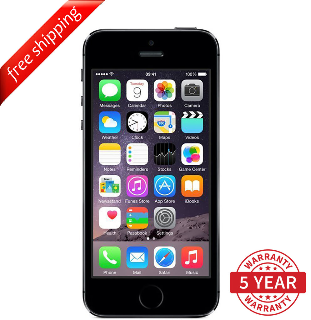 Original Apple iPhone 5S 4G LTE GSM Factory Unlocked Space Gray (16GB/32GB/64GB) - Refurbished