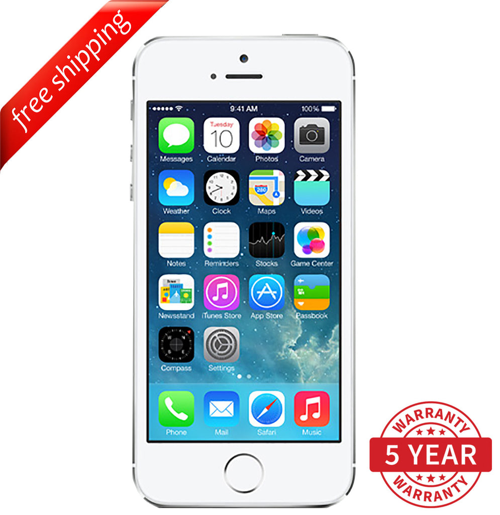 Original Apple iPhone 5S 4G LTE GSM Factory Unlocked White (16GB/32GB/64GB) - Refurbished