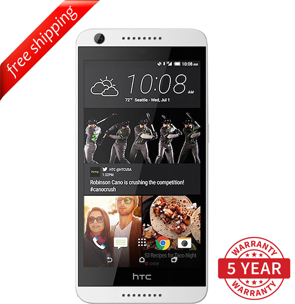 Original HTC Desire 626 13MP 4G LTE Factory Unlocked White (8GB ) - Refurbished