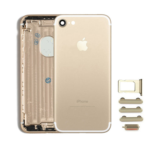 Back Housing Replacement Battery Case Cover Rear Frame For iPhone 7 - Gold