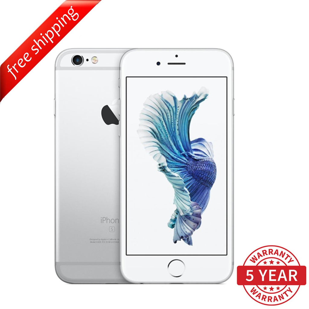 Original iPhone 6S Plus 4G LTE GSM Factory Unlocked Silver (16GB/64GB/128GB)  - Refurbished