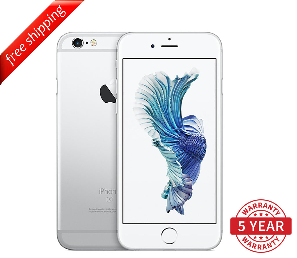 Original iPhone 6S 4G LTE GSM Factory Unlocked Silver (16GB/64GB/128GB)  - Refurbished