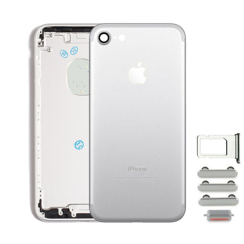 Back Housing Replacement Battery Case Cover Rear Frame For iPhone 7 - Silver