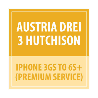Austria Drei 3 Hutchison iPhone 3GS To 6s+ Premium service - Delivery Time : 5 days