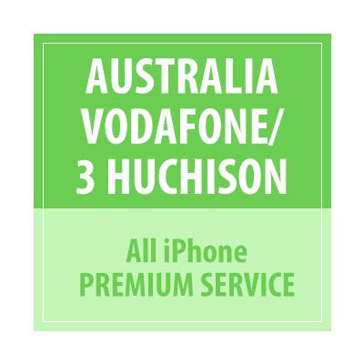 Australia Vodafone/3 Huchison All iPhone Premium Service - Delivery Time : 24 Hours
