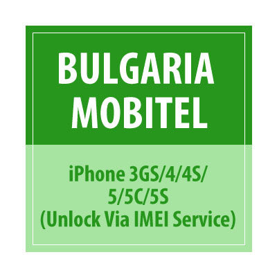 Bulgaria Mobitel iPhone 3GS/4/4S/5/5S/5C Unlock Via IMEI Service - Delivery Time : 7 days