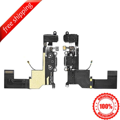 Original Headphone Jack Dock Charging Port Flex Cable For iPhone 5s