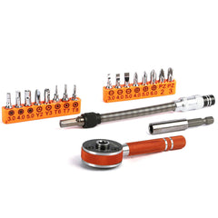JAKEMY JM-6119 19 in 1 Multipurpose Precision Screwdriver Ratchet Repair Tools Sets for Cellphone Electronics Furniture Repair