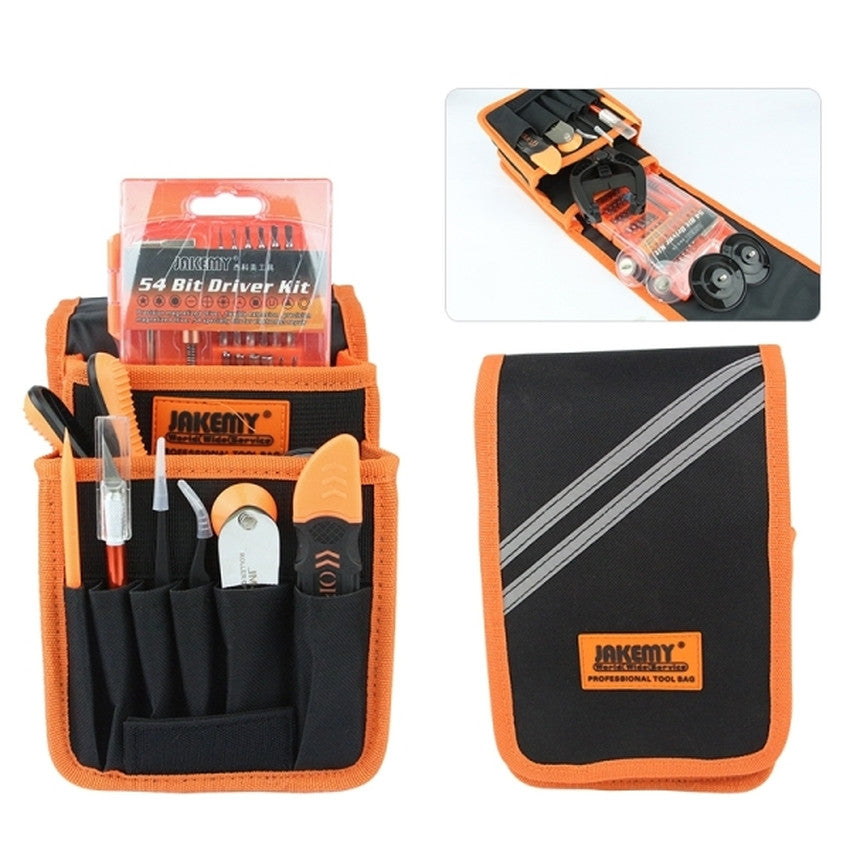 JAKEMY JM-P11 (70 in 1) Precision Screwdriver Tweezer Opening Tool Set With Canvas Bag