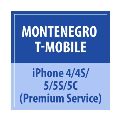 Montenegro T-Mobile iPhone 4/4S/5/5C/5S Premium Service - Delivery Time : 72 Hours