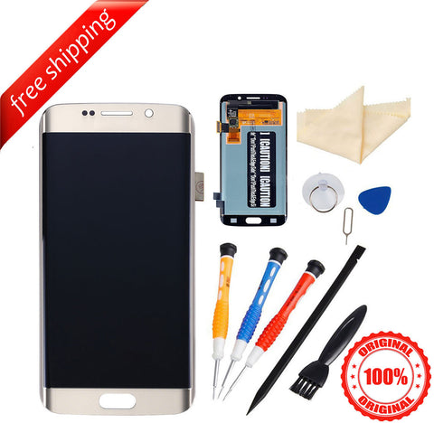 Original LCD For Samsung Galaxy S6 Edge Digitizer Assembly With Frame - Gold