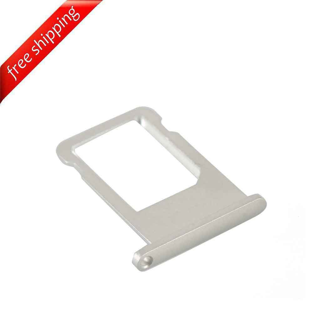 SIM Card Slot Holder Tray For iPhone 6 - Silver