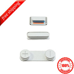 Original Side Buttons Mute Volume Power For iPhone 5s - Silver