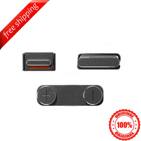 Original Side Buttons Mute Volume Power For iPhone 5s - Space Grey